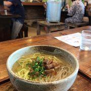 竹富島の老舗食事処、八重山そばの竹の子