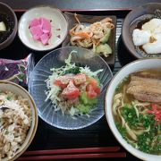 沖縄そばがおいしい