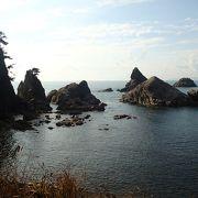 笹川流れは,日本百景にも選定されている海岸景勝地!