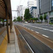岡山駅からまっすぐ伸びていました。