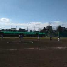 ソフトボールの試合
