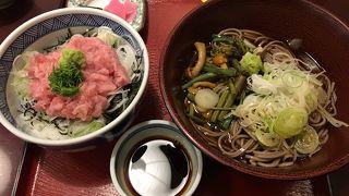 蕎麦とネギトロ丼