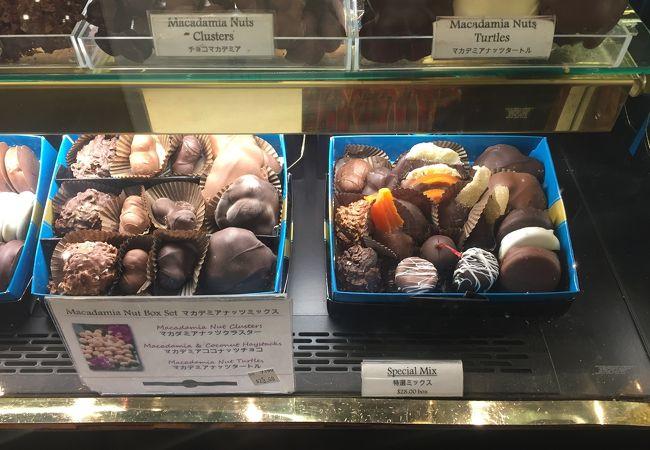アメリカンなチョコとフランスのチョコの両方を取り扱い