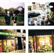 2006年5月に訪れた時は2階でお茶をした。