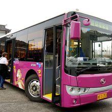 天子山ロープウェー乗り場からのシャトルバス