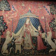 ローマ遺跡と中世時代の建物が合体した美術館・「貴婦人と一角獣」のタピストリーがお勧め