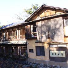 桂橋から見た新井旅館