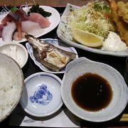 お刺身とのどぐろ地魚フライの定食~1800円で刺身・のどぐろ・焼き魚が楽しめ、お値打ちだと思います~