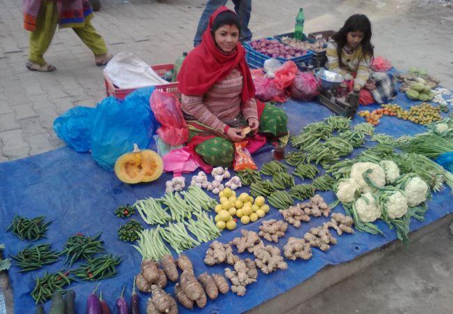 チェトラパティ野菜市場