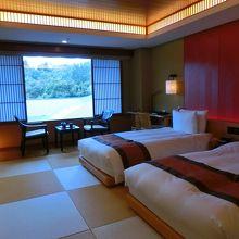 デラックスツイン(琉球畳にベッド)