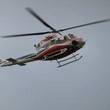 タイミングが合えば防災ヘリの救助訓練の様子も見れるかも?!