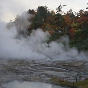 温泉の多い八幡平でも格別の光景
