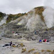 玉川温泉の名物、岩盤浴をする一帯