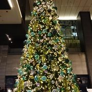 クリスマスツリーが飾られています