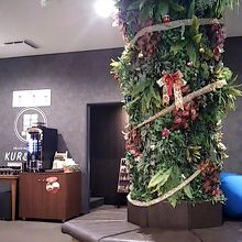 くつろぎ場の入り口です。クリスマス装飾