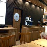 駅ナカのカフェ