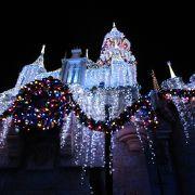 Sleeping Beauty Castle Walkthrough 美しいイルミネーションに魅せられます♪