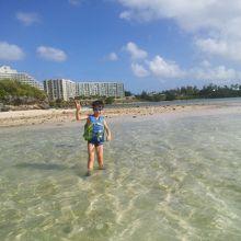 干潮時には砂浜が出現