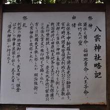 八雲神社 (大町) 案内