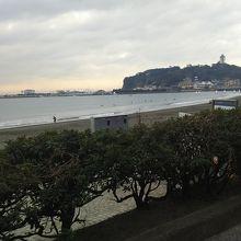 江ノ島の東側にある海岸