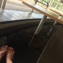 足湯ホーム! かすかに硫黄の匂いがする温泉