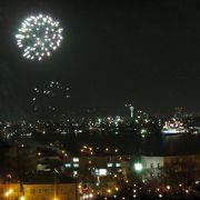 八幡坂や元町公園から眺める花火