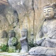 素敵な石仏やお寺があります