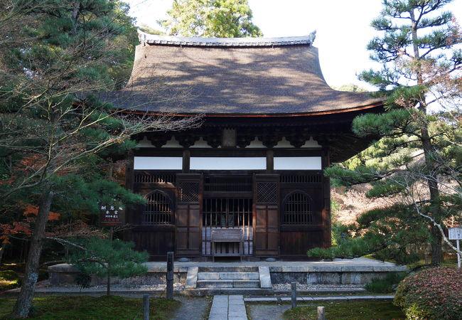 紅葉がきれいな一休さん所縁のお寺