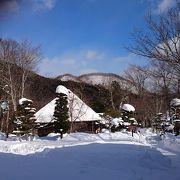 雪の似合う「平家の里」