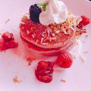 ピンクのパンケーキ
