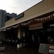 アウトレット内のハワイ発コーヒー店