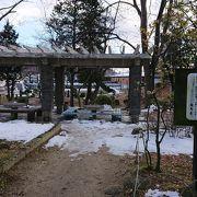 県庁の奥にある木陰の散策路