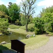 中庭と、外に面した庭