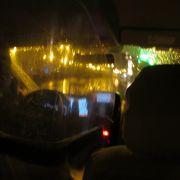 雪の日のタクシー