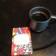 コーヒー豆の情報が書いてあるカードを貰いました
