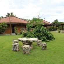ホテルピースアイランド竹富島中庭