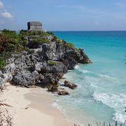 マヤ遺跡とカリブ海のコントラスト 最高にフォトジェニック!