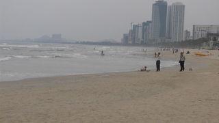 砂浜が続く