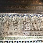 マラケシュのきれいなバヒア宮殿