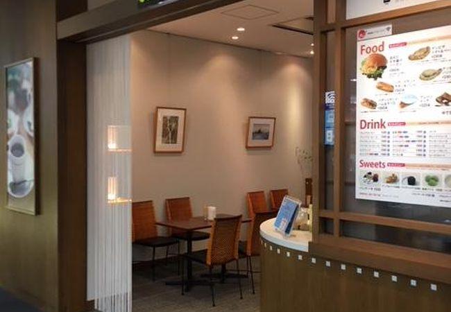 富山空港のカフェ