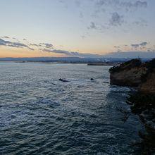 潮見台からの夕景。