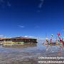 ウユニ塩湖内にある塩のホテル