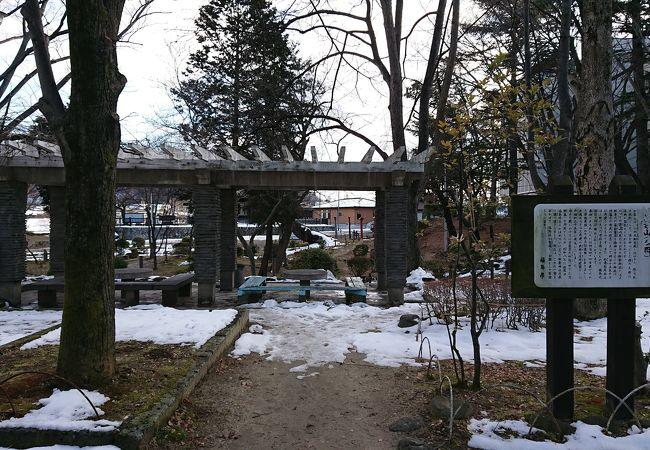 県庁の近くの公園