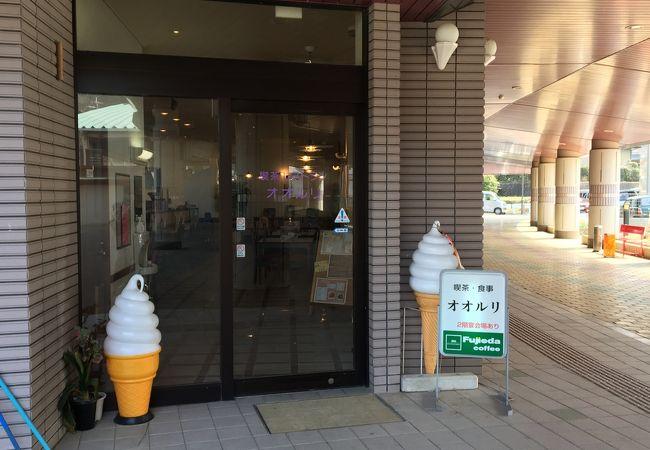 笠置温泉一階の喫茶店