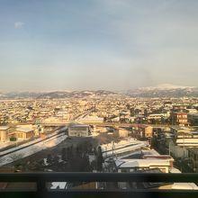 8階客室窓から撮影した月山が綺麗でした.