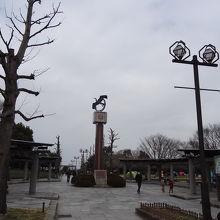 北ゾーン 中央が時計台