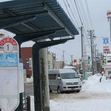 駅の前にはバス乗り場あり。