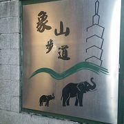 象山に登る歩道