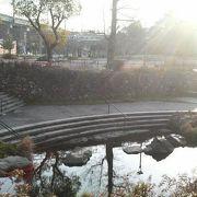 岐阜駅そば、朝は人が少なめな穴場の公園です