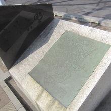 巣鴨駅近くにある染井吉野の碑
